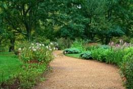 Trädgårdsgång grus